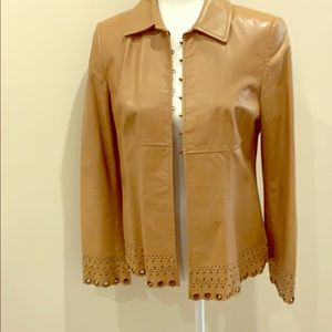 David Meister leather jacket.